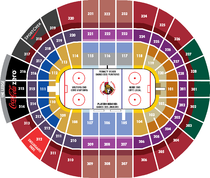 canadian tire centre seating map